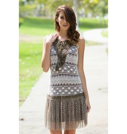 A'reve Slvlss Crochet Knitted Top Lace Bttm