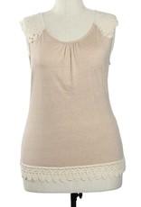 A'reve Tank Top w/Crochet Shoulders