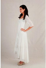 Nataya Embrod Hi-Lo Long Half Slv Dress