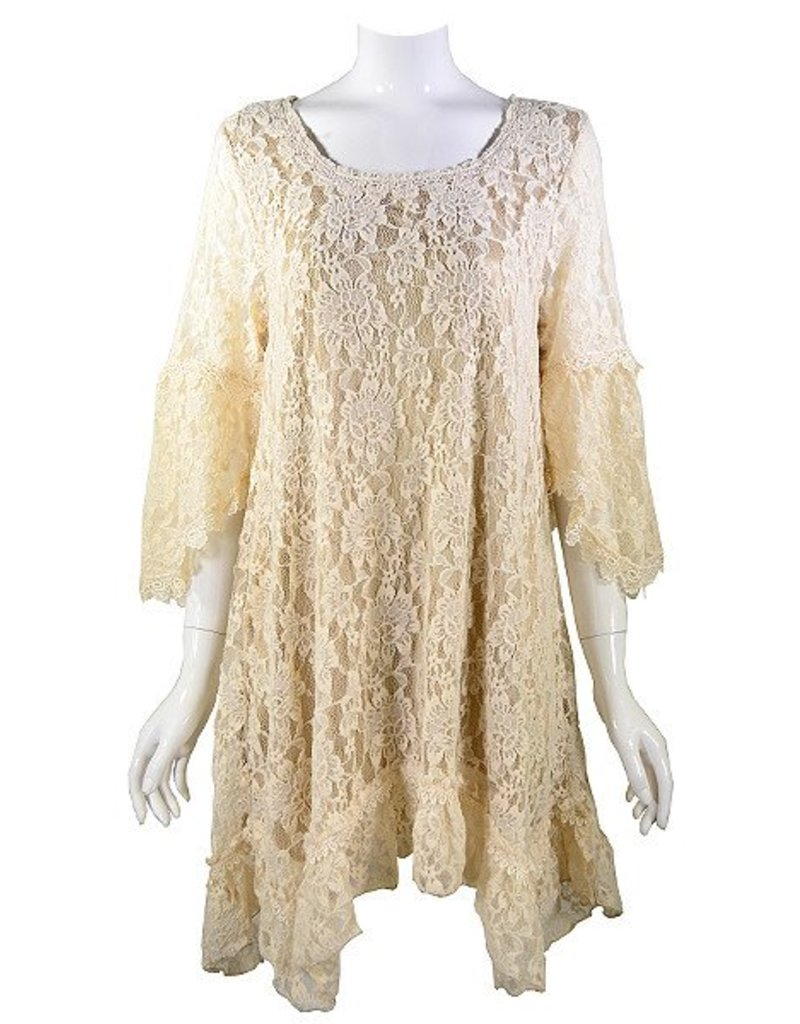 Lady Noiz Rose Floral Lace Tunic