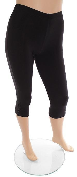 Bottom Button Legging Black