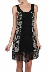 A'reve Flapper Slvls Dress Fringe Detail