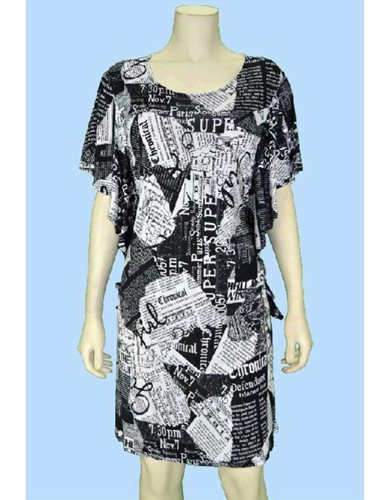 Pretty Woman Ruffle Sleeve Dress