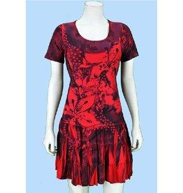 Pretty Woman Sublim Dress SSlv Ruffle Bttm