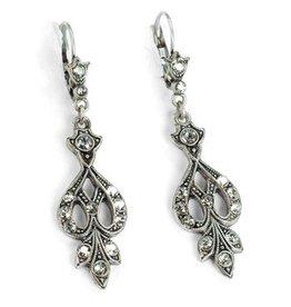 Sweet Romance Arabesque Earrings Silver