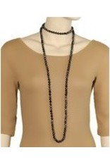 """Golden Stella 60"""" Long Knotted Glass Bead Necklace"""