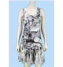 Pretty Woman Ruffle Lace Bttm Slvlss Dress