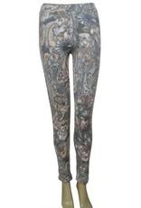 Pretty Angel Floral Legging Gray/Brown