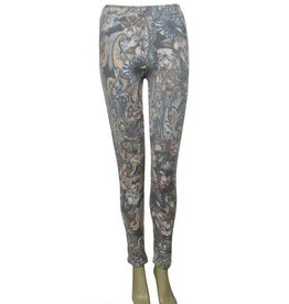 Pretty Angel Floral Legging Gray/Brown