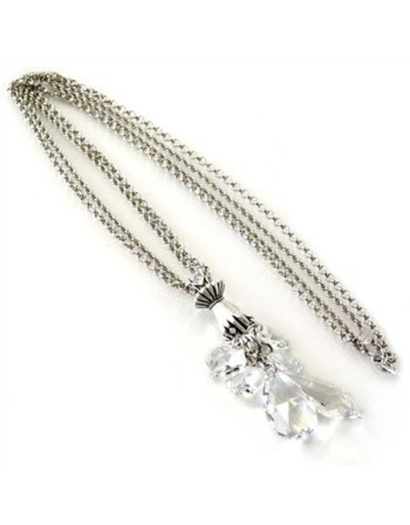 Sweet Romance Hand Full of Crystal Necklace