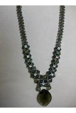 Sharon B's Originals Black Diamond & Crystal Cat's Eye Pendant