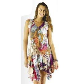 Sacred Threads Patchwork Kicky Bottom Tank Dress