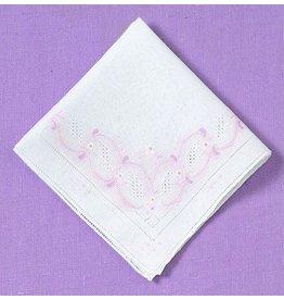 """13"""" sq Hanky Pink Emblem"""