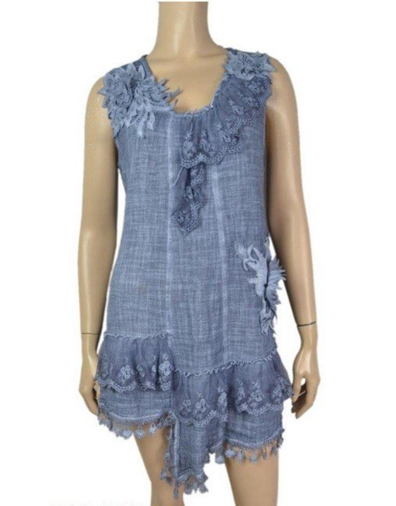 Pretty Angel Gauze Lace Accents Tunic