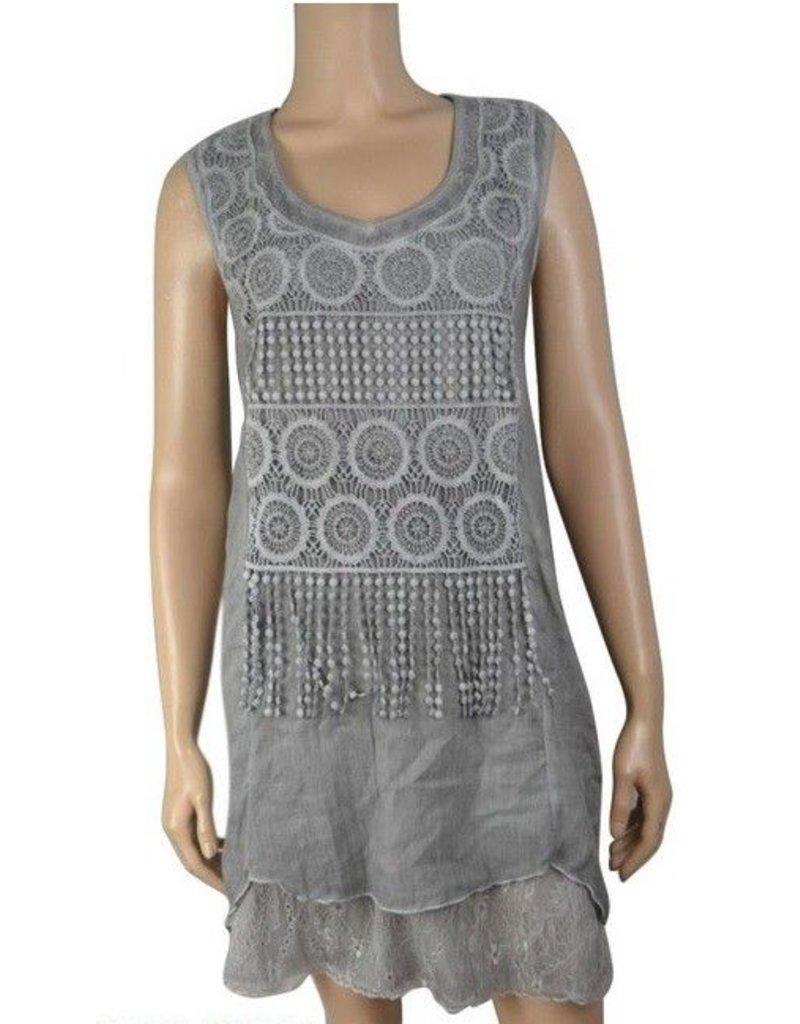 Pretty Angel Crochet Bib Dress