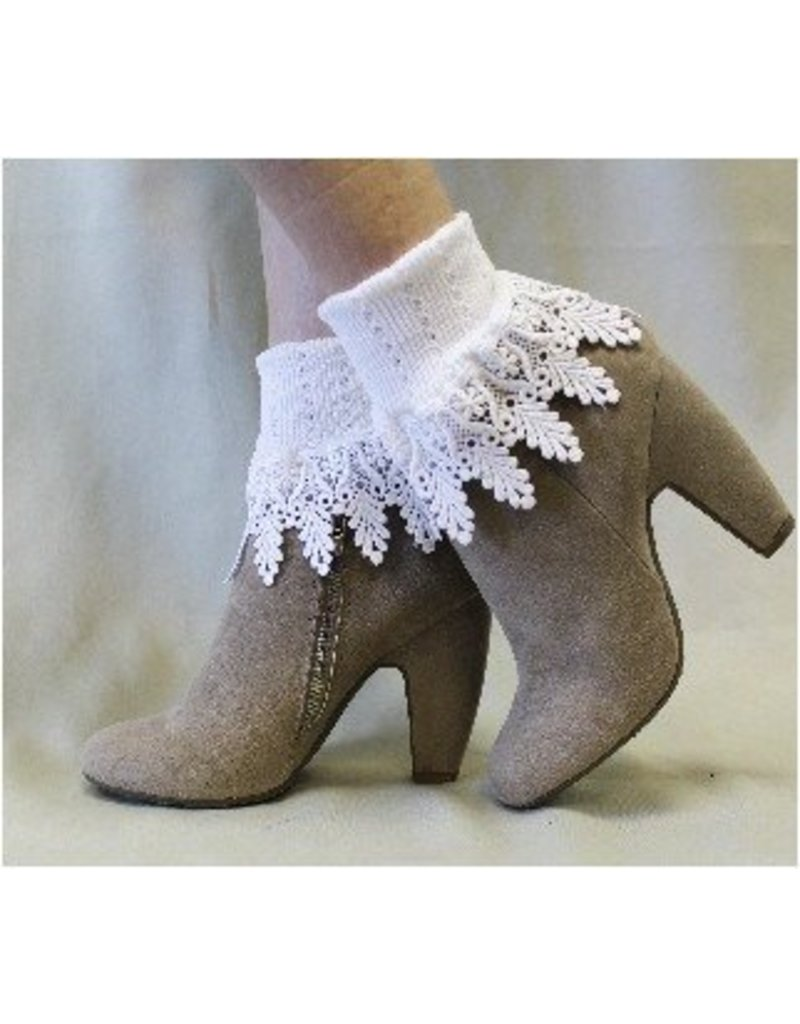 Catherine Cole Studio Lace Trim Socks