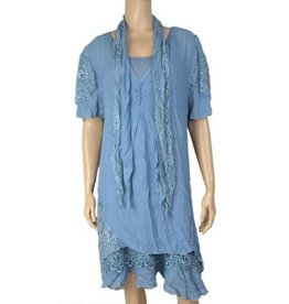 Pretty Angel 3 Pc Slvls Ruffle Bottom Dress w/ Scarf