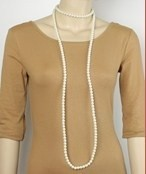 Golden Stella Pearl Strands Necklace White Pearl