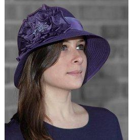 Toucan Silk Rose Cloche - Purple