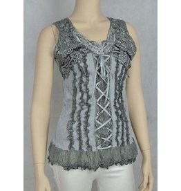 Pretty Angel Bustier Lace Tank Top Grey