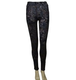 Pretty Angel Floral Paisley Legging Bl/Gy