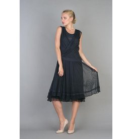 Nataya Lace Crisscross Front Dress Navy