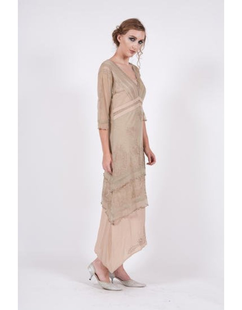 Nataya Titanic Dress Sage/Peach