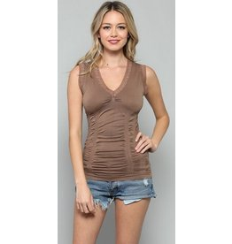 By Together Seamless Lace Rim Tank w/ Synches