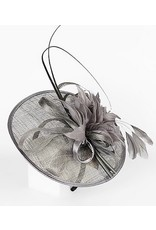 Golden Stella Disk Fascinator with Feathers