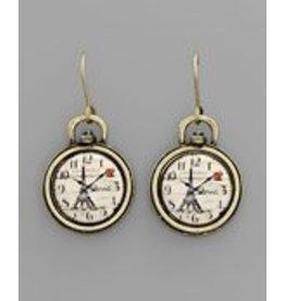 Golden Stella Replica Antique Watch Earrings-Paris