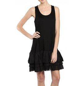 A'reve Tank Slip Dress Ruffle Bottom