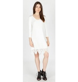 Monoreno Knit Dress Lace Trim
