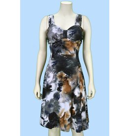Pretty Woman Sublim Dress - Gathered at Chest Cloudy Skies