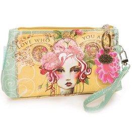 Papaya Wallet Wristlet Rose