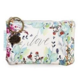 Papaya Coin Purse Love Floral