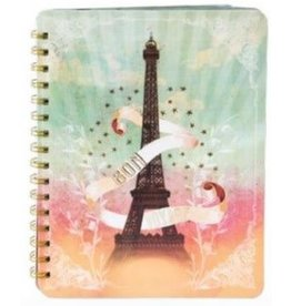 Papaya Eiffel Tower Blank Ring Notebook