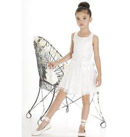 Drop Waist Dress Lace w/Underlay Ivory