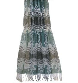 Pretty Angel Woven Scarf Multi Color Turquois Black