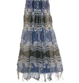 Pretty Angel Woven Scarf Multi Color Blue White