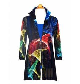 Valentina Signa Chiffon Jacket w/ Shapeable Collar Laser Show