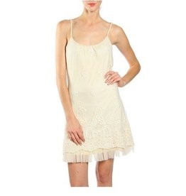 A'reve Lace Slip Dress Cream