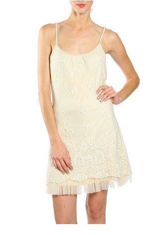 A'reve Lace Slip Dress Cream