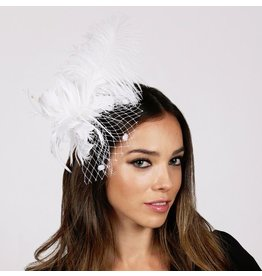 Something Special LA Feather Plume Clip/Pin White