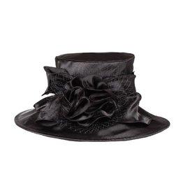 Something Special LA Medium Brim Crushable Satin Hat Black