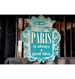 Peacock Park Design Paris Good Idea Wooden Sign