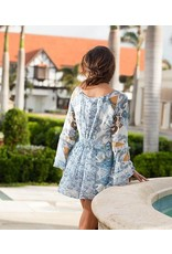 Bronte Bell Sleeve Lace-up Neck Boho Tunic