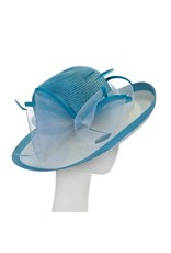 F&M Hat Company/Giovannio Matte Rolled Crown Off Face Hat Turq White