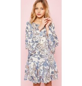 Hayden Los Angeles Ruffle Detail Printed Dress Floral