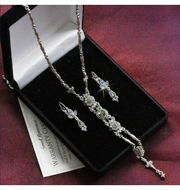 Sweet Romance Starlight Silver Y Necklace & Earring Set