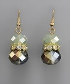 Golden Stella Crystal Cluster w/Teardrop Dangle Earring Opal/Gold